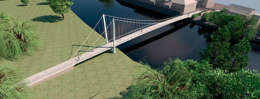 suspension bridge st neots